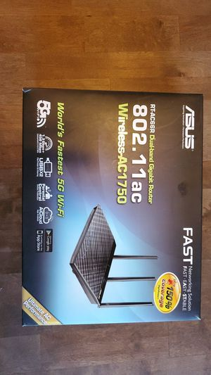 ASUS RT-AC66R 802.11ac Dual-Band Wireless-AC1750 Gigabit Router for Sale in Pompano Beach, FL