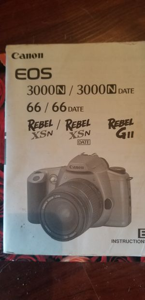 Old cannon rebel film camera for Sale in Austin, TX