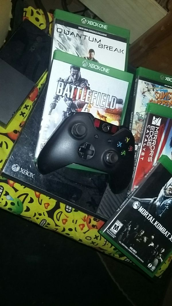 Perfect condition Xbox One; controller; all cables; box; 5 not scratched + 5 already installed games.