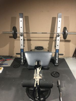 Weight bench and weights for Sale in West Chicago, IL