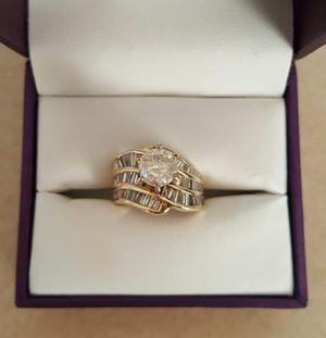 GORGEOUS! 14K YELLOW GOLD ENGAGEMENT/WEDDING 3.5 CARAT DIAMOND RING - PREOWNED for Sale in Chino, CA