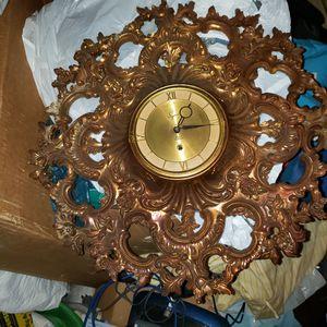 Syroco wood vintage clock for Sale in Cranston, RI