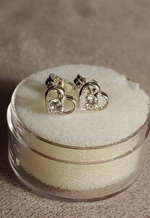 Floating Heart ❤ Zircon Earrings for Sale in Bonney Lake, WA