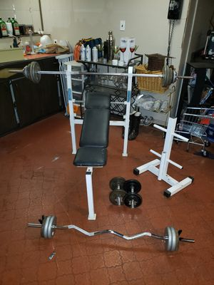 Standard weights & bench for Sale in North Olmsted, OH