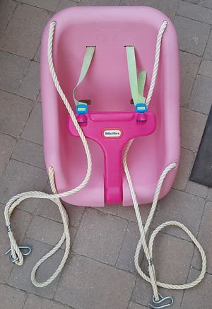 Pink Little Tikes Baby/Toddler Swing, 2 in 1 Snug and Secure for Sale in Peoria, AZ