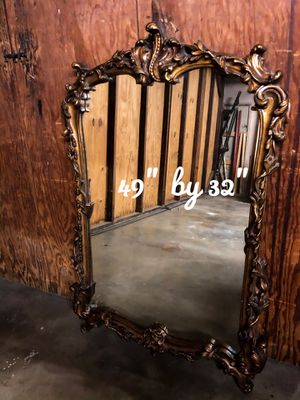 Beautiful antiqued gold mirror for Sale in Riverside, CA