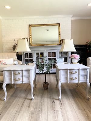 Pair (2) Gray French Provincial Side Tables/ End Tables/ Night Stands for Sale in Annandale, VA