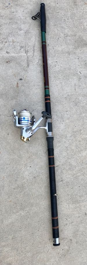 Fishing pole collapsible telescopic 11 feet 10 inches long daiwa reel for Sale in Highland, CA