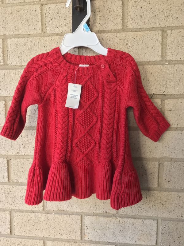 Gap Red Sweater Dress Size 3-6M