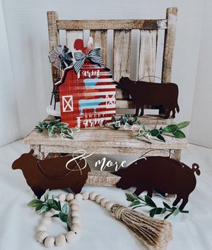 Farmhouse Cow Pig Sheep Metal wall Decor for Sale in Tampa, FL
