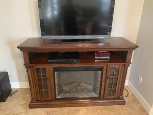 Electric Fireplace TV Stand for Sale in Bakersfield, CA