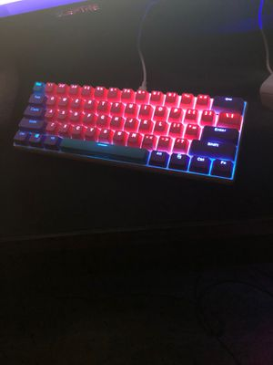 RK61 mechanical gaming keyboard 60% with joker keycaps(does not come with original keycaps) for Sale in Richland, WA