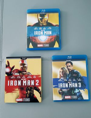 TRILOGY IRON MAN 1, 2, 3 - BLURAY DISCS for Sale in Duluth, GA