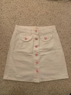 Super cute heart button denim skirt (brand new!!) for Sale in Dublin, CA