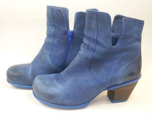 JOHN FLUEVOG Women's Ankle Boots Distressed Blue Black Side Zip US 10 Msrp $369 for Sale in Hayward, CA