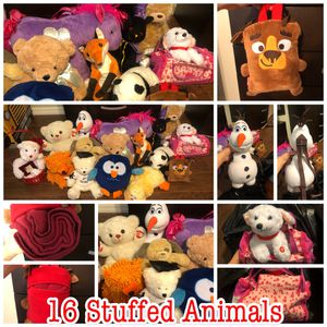 16 medium/ large stuffed characters-animals for Sale in Winter Springs, FL