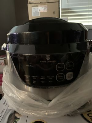 Cooking Essentials 2.3L 8-1 Slow Cooker, Pressure Cooker, Rice Cooker,Chill/Stew, Eggs, Warm, Brown!! for Sale in Phoenix, AZ