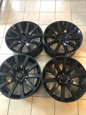 20in Blacked put Rims for Charger, challenger, whatever I can put them on. for Sale in La Porte, TX