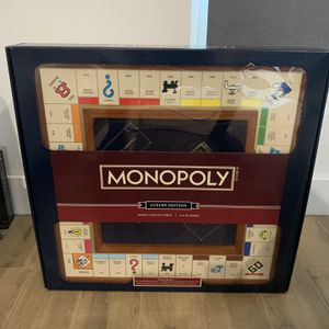 Monopoly Luxury Wooden Edition with Wood Game Board New Premium Collectible for Sale in Miami, FL