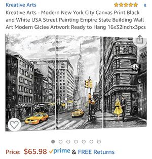 New York canvas wall art for Sale in Port Wentworth, GA