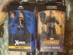 Marvel legends Emma Frost and infinity war captain America for Sale in Stickney, IL