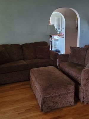 Loveseat ( sofa bed), Chair and a Half, & Storage Ottoman for Sale in Ontario, CA
