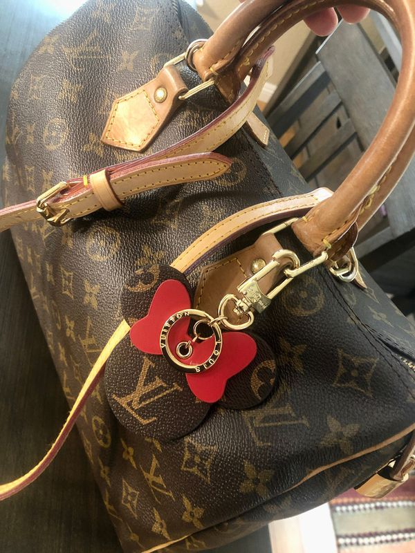 Louis Vuitton Mickey Mouse Keychain (Red Bow)