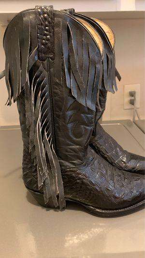 Black Alligator Boots w/ Fringe for Sale in Porter, TX