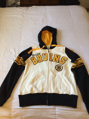 Bruins women hoodie jacket size s new for Sale in Ashland, MA