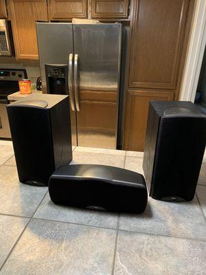 Klipsch Synergy b3 bookshelf speakers right/left and klipsch synergy c1 center channel for Sale in Phoenix, AZ