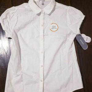 Girls new white uniform top siZe 7/8 for Sale in Monrovia, CA