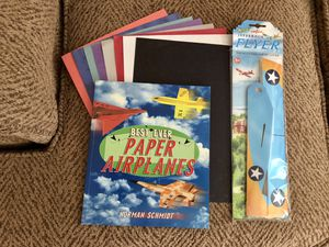 Paper airplanes how to make paperback book with paper. Includes new flyer airplane for Sale in St. Peters, MO
