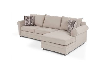 Venus 2 pieces sectional sofa with orthopedic sleeper full size for Sale in New York, NY