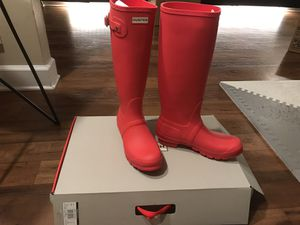 Hunter Red rain boots for Sale in Plantation, FL