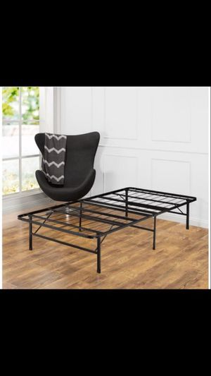 Twin size metal bed frame with matress for Sale in Herndon, VA