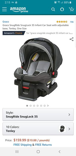 Graco SnugRide SnugLock 35 Infant Car Seat with adjustable base, Tenley, One Size for Sale in Gahanna, OH
