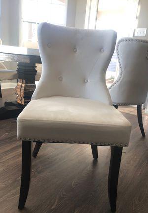 Velvet White Dining Chair 6 pcs for Sale in Lexington, KY