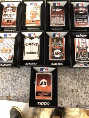 San Francisco giants zippo lighter collection for Sale in Roseville, CA