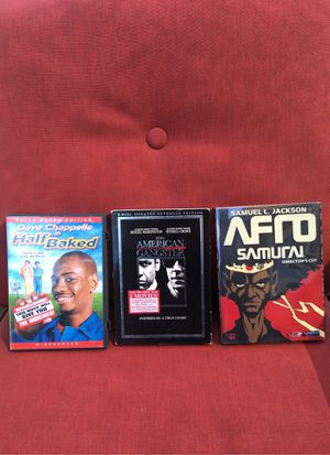 Half baked, American gangster, Afro samurai for Sale in Long Beach, CA