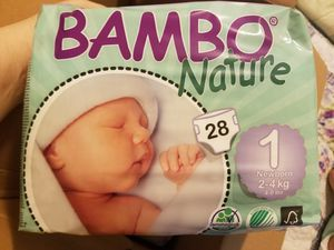 Three packs of Bambo Nature Newborn Diapers for Sale in Yonkers, NY