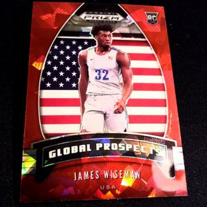 James Wiseman 2020 Global Prospects Red Cracked ice Rookie!! GOLDEN STATE WARRIORS DRAFT PICK for Sale in Delray Beach, FL