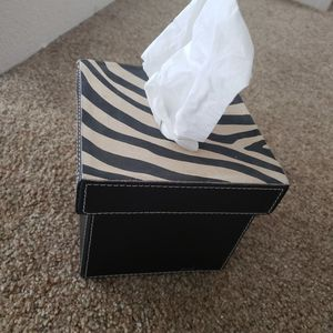 Made in India leather suede Kleenex tissue box for Sale in Honolulu, HI
