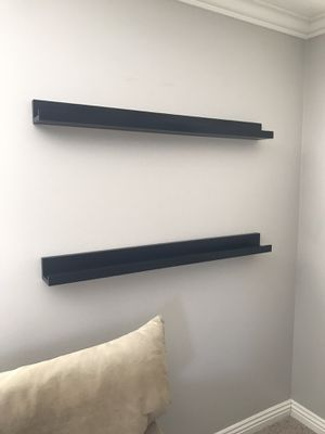 4 foot long black floating shelves / ledges for Sale in Orange, CA