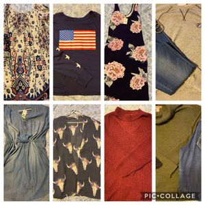 12 piece juniors bundle includes American Eagle jeans altered state and more for Sale in Durham, NC