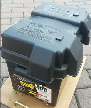 Marine battery casing with lid for Sale in Morton Grove, IL