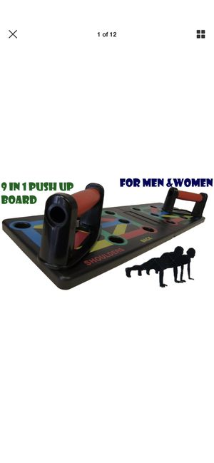 9 in 1 Push up rack board strength fitness exercise for Sale in Hayward, CA
