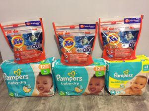 Pampers size 3 bundle for $32/ pick Up Gahanna Firm price for Sale in Columbus, OH