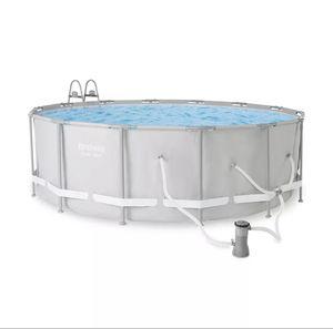 "Bestway 14' x 48"" Power Steel Frame Above Ground Round Swimming Pool Set for Sale in Alpharetta, GA"