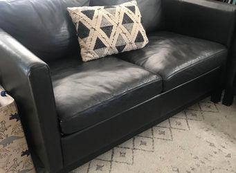 Black Leather Sofa Set for Sale in Portland,  OR