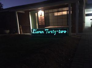 Custom solar powered backlit sign for Sale in Phoenix, AZ